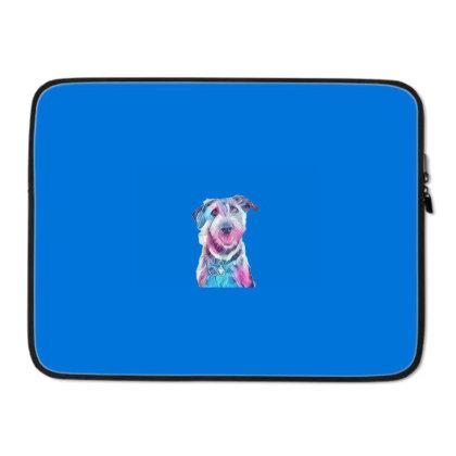 Happy And Smiling Dog Sitting Laptop Sleeve Designed By Kemnabi