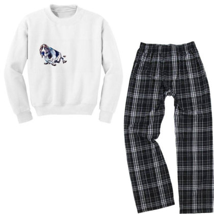 Dog With Guilty Expression An Youth Sweatshirt Pajama Set Designed By Kemnabi