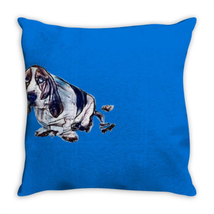 Dog With Guilty Expression An Throw Pillow Designed By Kemnabi