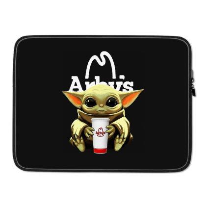 Funny Baby Yoda Hug Arbys Laptop Sleeve Designed By Star Store