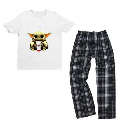 Funny Baby Yoda Hug Arbys Youth T-shirt Pajama Set Designed By Star Store