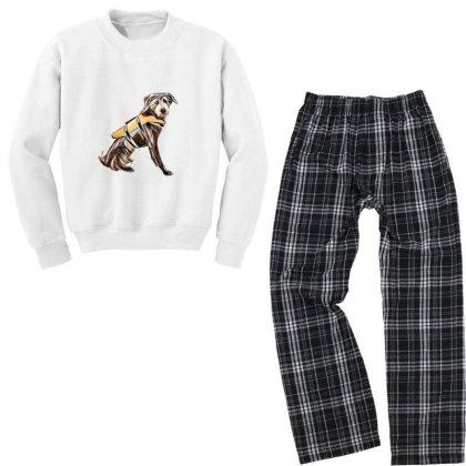 Medium Size Terrier Crossbree Youth Sweatshirt Pajama Set Designed By Kemnabi
