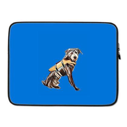 Medium Size Terrier Crossbree Laptop Sleeve Designed By Kemnabi