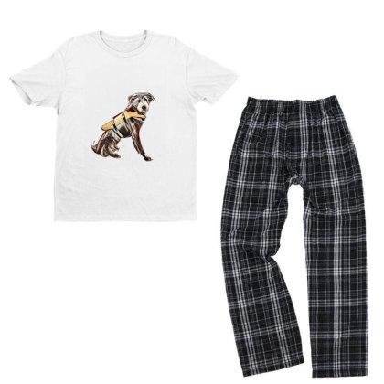 Medium Size Terrier Crossbree Youth T-shirt Pajama Set Designed By Kemnabi