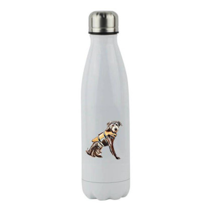 Medium Size Terrier Crossbree Stainless Steel Water Bottle Designed By Kemnabi