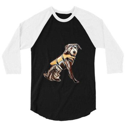Medium Size Terrier Crossbree 3/4 Sleeve Shirt Designed By Kemnabi