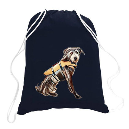 Medium Size Terrier Crossbree Drawstring Bags Designed By Kemnabi