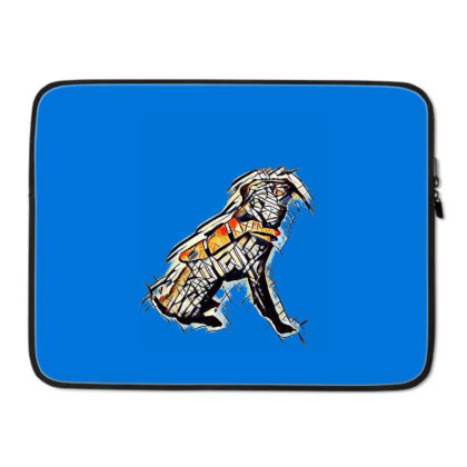 Obedient Large Mixed Breed Do Laptop Sleeve Designed By Kemnabi