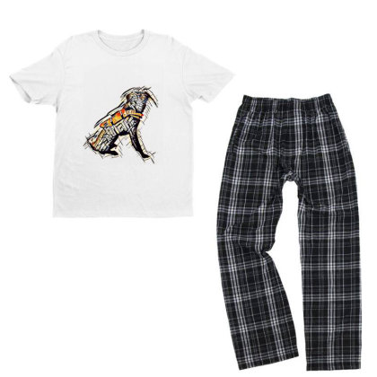 Obedient Large Mixed Breed Do Youth T-shirt Pajama Set Designed By Kemnabi