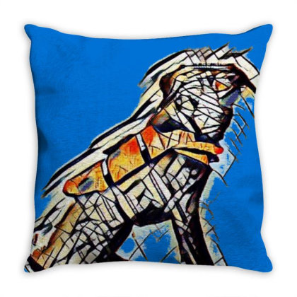 Obedient Large Mixed Breed Do Throw Pillow Designed By Kemnabi