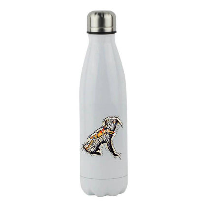 Obedient Large Mixed Breed Do Stainless Steel Water Bottle Designed By Kemnabi