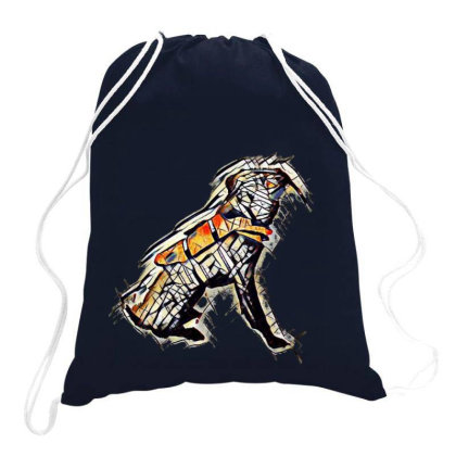 Obedient Large Mixed Breed Do Drawstring Bags Designed By Kemnabi