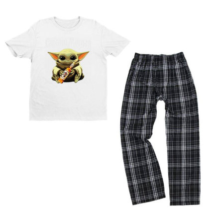 Funny Baby Yoda Drink Captain Morgan Youth T-shirt Pajama Set Designed By Star Store