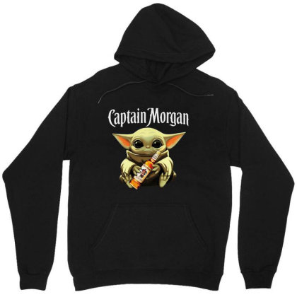 Funny Baby Yoda Drink Captain Morgan Unisex Hoodie Designed By Star Store
