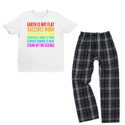 Earth Is Not Flat Youth T-shirt Pajama Set Designed By Star Store