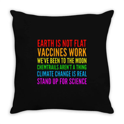 Earth Is Not Flat Throw Pillow Designed By Star Store