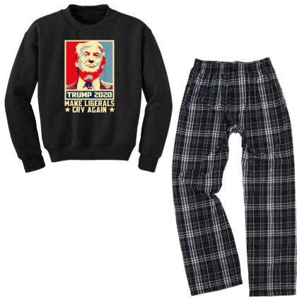 Donald Trump 2020 Youth Sweatshirt Pajama Set Designed By Star Store