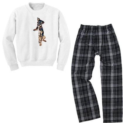 Crossbreed Dog With Sad Expre Youth Sweatshirt Pajama Set Designed By Kemnabi