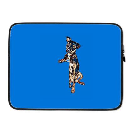 Crossbreed Dog With Sad Expre Laptop Sleeve Designed By Kemnabi