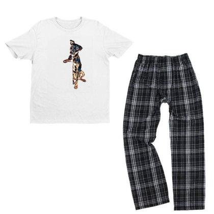 Crossbreed Dog With Sad Expre Youth T-shirt Pajama Set Designed By Kemnabi