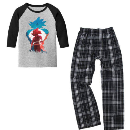 Dbz Youth 3/4 Sleeve Pajama Set Designed By Star Store