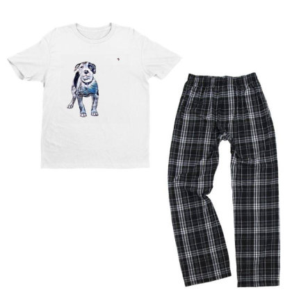 Cute Pit Bull Puppy With Guil Youth T-shirt Pajama Set Designed By Kemnabi