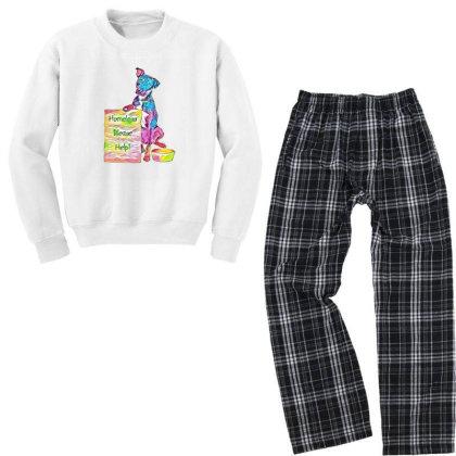 Homeless Rescue Dog Holding S Youth Sweatshirt Pajama Set Designed By Kemnabi