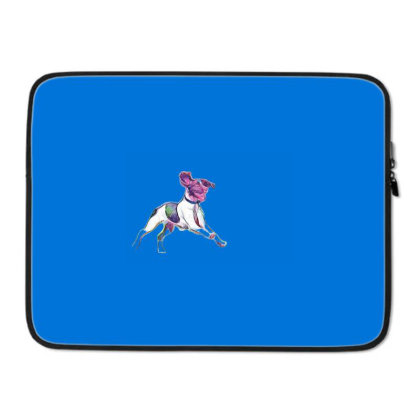 Happy And Active Wet Dog Runn Laptop Sleeve Designed By Kemnabi