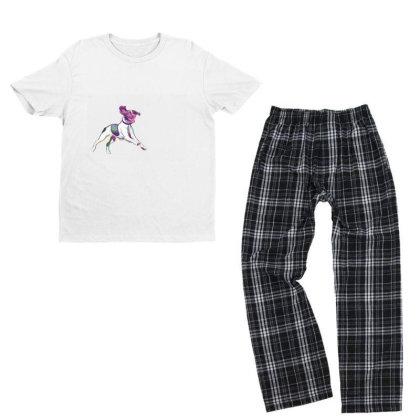 Happy And Active Wet Dog Runn Youth T-shirt Pajama Set Designed By Kemnabi