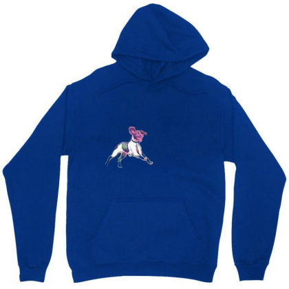 Happy And Active Wet Dog Runn Unisex Hoodie Designed By Kemnabi