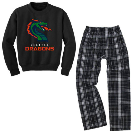 Cool Dragons Youth Sweatshirt Pajama Set Designed By Star Store