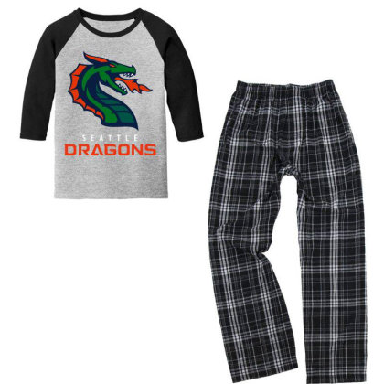 Cool Dragons Youth 3/4 Sleeve Pajama Set Designed By Star Store