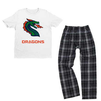 Cool Dragons Youth T-shirt Pajama Set Designed By Star Store