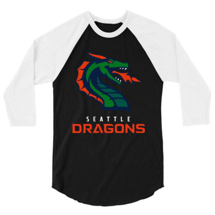 Cool Dragons 3/4 Sleeve Shirt Designed By Star Store