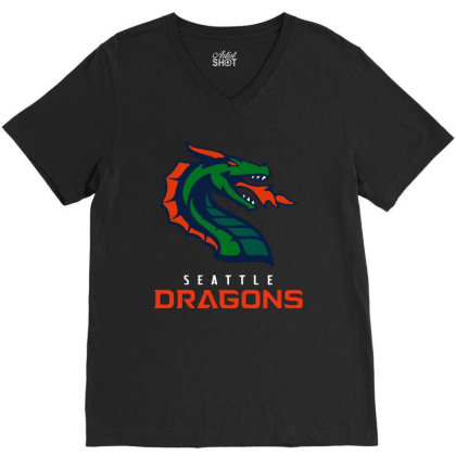 Cool Dragons V-neck Tee Designed By Star Store