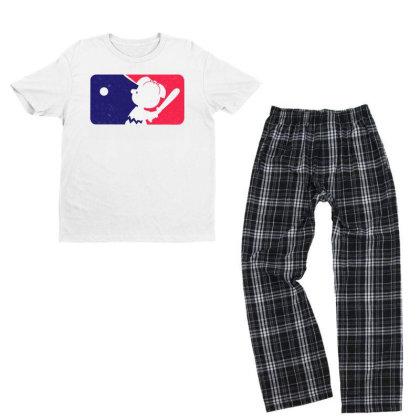 Cartoon Baseball Funny Youth T-shirt Pajama Set Designed By Star Store