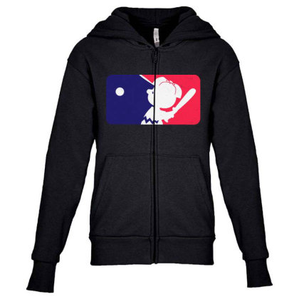 Cartoon Baseball Funny Youth Zipper Hoodie Designed By Star Store