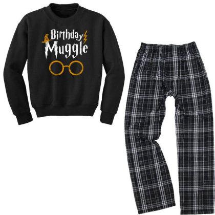 Birthday Muggle Youth Sweatshirt Pajama Set Designed By Star Store
