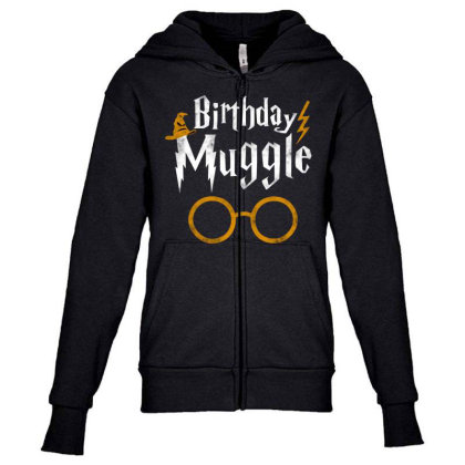 Birthday Muggle Youth Zipper Hoodie Designed By Star Store