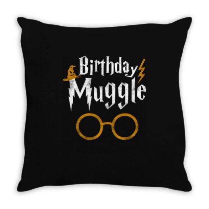 Birthday Muggle Throw Pillow Designed By Star Store