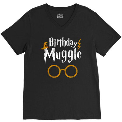 Birthday Muggle V-neck Tee Designed By Star Store