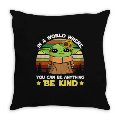 Be Kind Vintage Throw Pillow Designed By Star Store