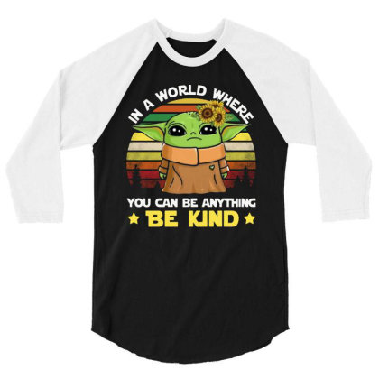 Be Kind Vintage 3/4 Sleeve Shirt Designed By Star Store