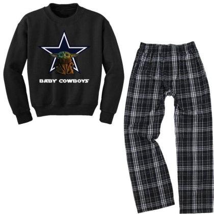Baby Cowboys Youth Sweatshirt Pajama Set Designed By Star Store