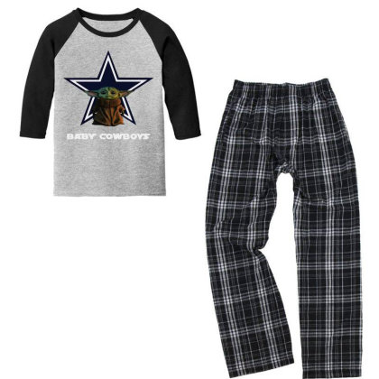 Baby Cowboys Youth 3/4 Sleeve Pajama Set Designed By Star Store