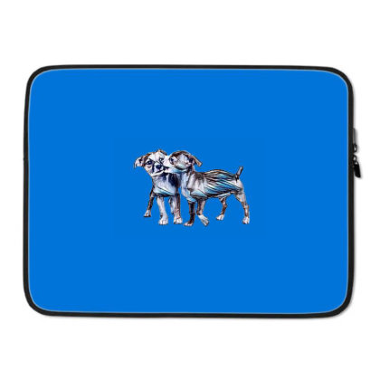 Two Playful Chihuahua Crossbr Laptop Sleeve Designed By Kemnabi