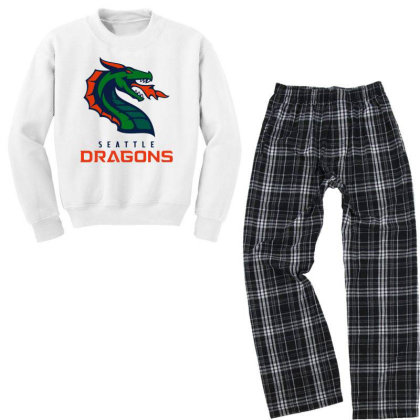 Awesome Dragons Youth Sweatshirt Pajama Set Designed By Star Store