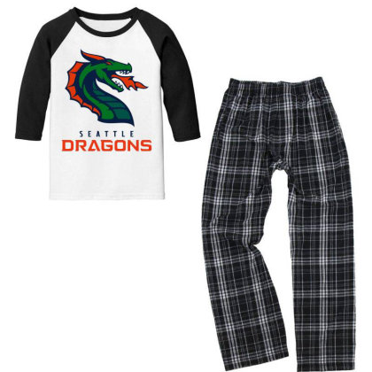 Awesome Dragons Youth 3/4 Sleeve Pajama Set Designed By Star Store