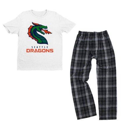 Awesome Dragons Youth T-shirt Pajama Set Designed By Star Store