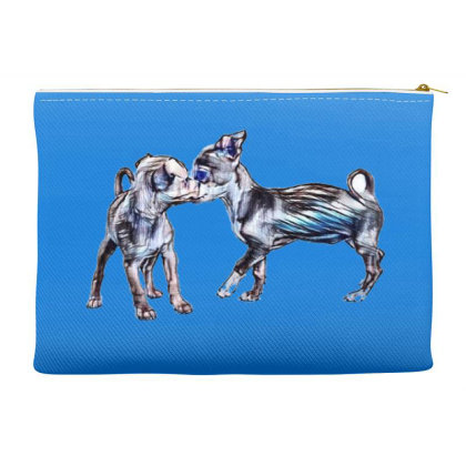 Two Playful Chihuahua Crossbr Accessory Pouches Designed By Kemnabi